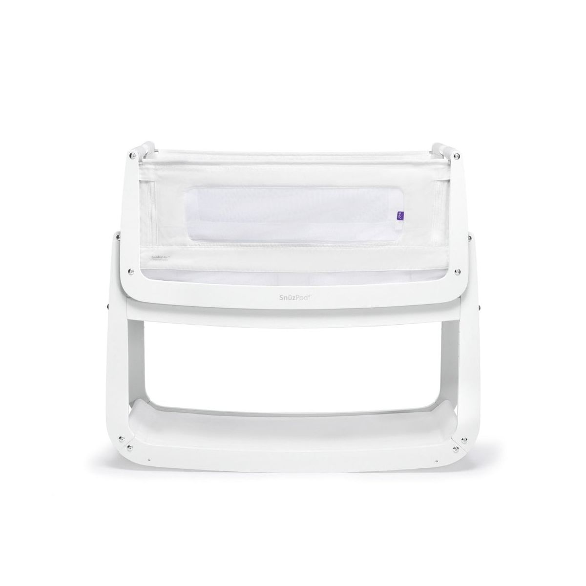 SnuzPod4 Bedside Crib with Mattress-White