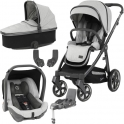 BabyStyle Oyster 3 City Grey Finish Essential Capsule Travel System-Tonic