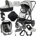BabyStyle Oyster 3 City Grey Finish Ultimate Capsule Travel System-Tonic
