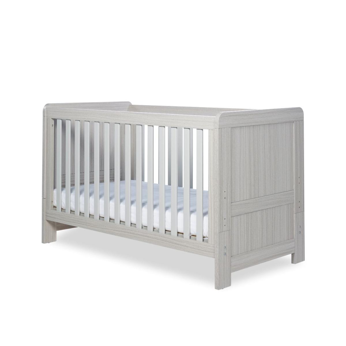 Ickle Bubba Pembrey Cot Bed-Ash Grey