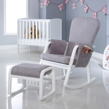 Ickle Bubba Dursley Rocker Chair and Stool- Pearl Grey