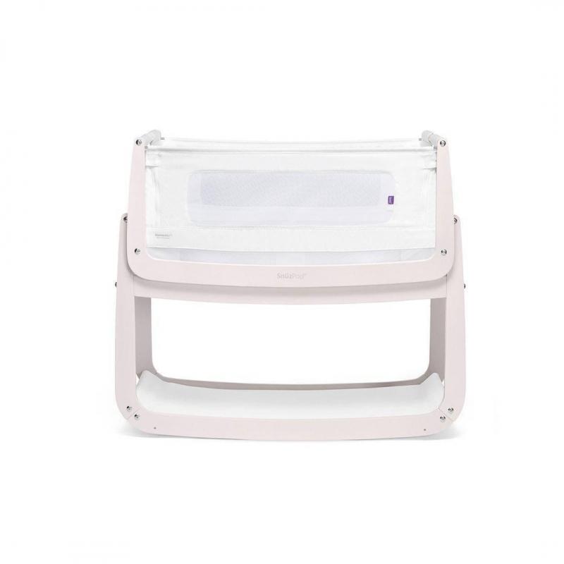 SnuzPod4 Bedside Crib with Mattress-Rose White