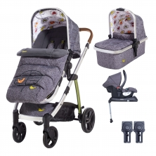 Cosatto Wow 3in1 Whole 9 Yards Travel System with Hold 0+ Car Seat-Dawn Chorus