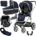 BabyStyle Oyster 3 Mirror Finish Luxury Capsule Travel System-Rich Navy