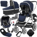 BabyStyle Oyster 3 Mirror Finish Ultimate Capsule Travel System-Rich Navy