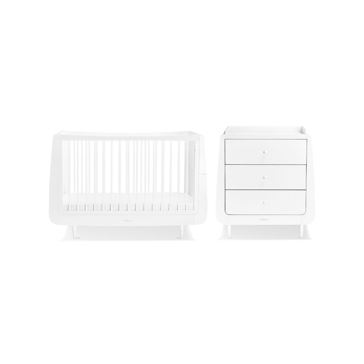 SnuzKot Skandi 2 Piece Nursery Furniture Set White