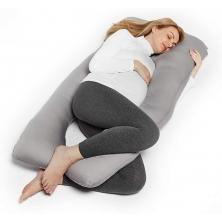 TM Home The THEODORE U Shaped Pregnancy Pillow-Grey