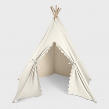 The Little Green Sheep Teepee Play Tent-Linen