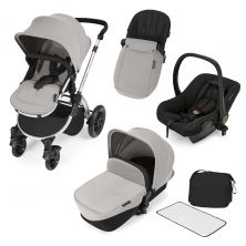 Ickle Bubba Stomp V2 Silver Frame 3in1 Travel System-Silver