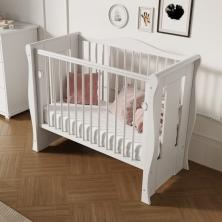 Little Babes Ltd Tia Spacesaver Cot-White