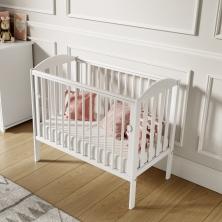 Little Babes Tobie Space Saver DROPSIDE Cot-White