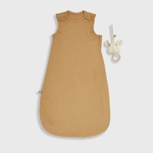 The Little Green Sheep Organic Baby Sleeping Bag 1.0 Tog -Honey, 0-6m