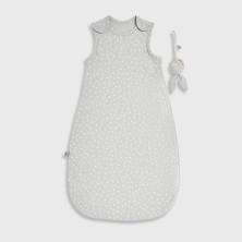 The Little Green Sheep Organic Baby Sleeping Bag 1.0 Tog -Dove Rice, 0-6m