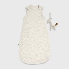 The Little Green Sheep Organic Baby Sleeping Bag 1.0 Tog -Linen Rice, 0-6m