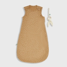 The Little Green Sheep Organic Baby Sleeping Bag 1.0 Tog -Honey Rice, 0-6m