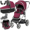 BabyStyle Oyster 3 Mirror Finish Essential Capsule Travel System-Cherry