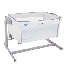 Chicco Next2Me Magic Side Sleeping Crib-White Snow + FREE 2 Pack Crib Sheets!