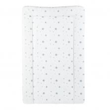 CuddleCo PVC Changing Mat-White Grey Stars