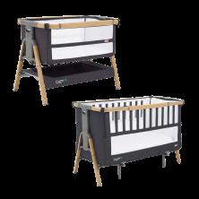 Tutti Bambini Cozee XL Bedside Crib & Cot Bundle-Oak/Liquorice