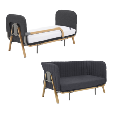 Tutti Bambini Cozee XL Junior Bed & Sofa Expansion Pack-Oak/Liquorice
