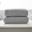 Clair De Lune 2 Pack Cotton Fitted Pram/Crib Sheets-Grey