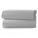 Clair De Lune 2 Pack Fitted Cot Sheets-Grey