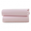 Clair De Lune 2 Pack Fitted Cot Sheets-Pink