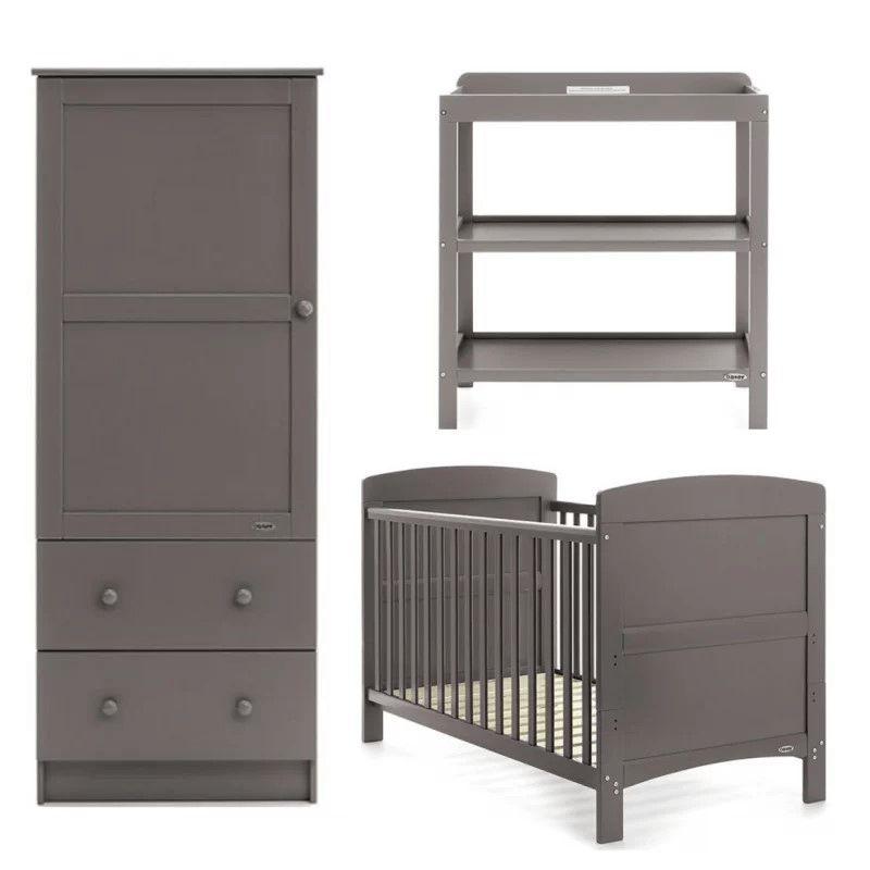 Obaby Grace 3 Piece Furniture Set-Taupe Grey