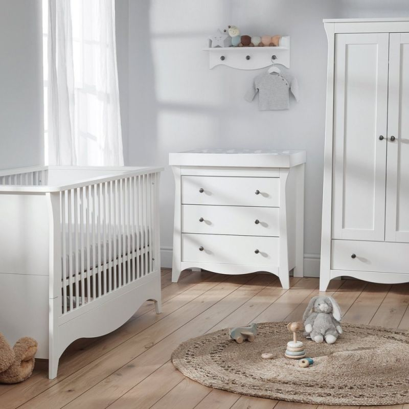 CuddleCo Clara 3 Piece Furniture Set-White (2021)