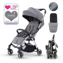 Miniuno TouchFold Stroller-Grey Herringbone