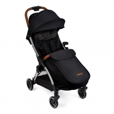 Ickle Bubba Gravity Max Silver Chassis Stroller-Black(YBC)