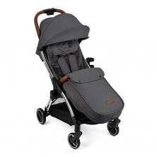 Ickle Bubba Gravity Max Silver Chassis Stroller-Graphite Grey(Bounty)