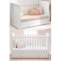 East Coast Alaska Sleigh Cot Bed-White + Underbed Drawer!