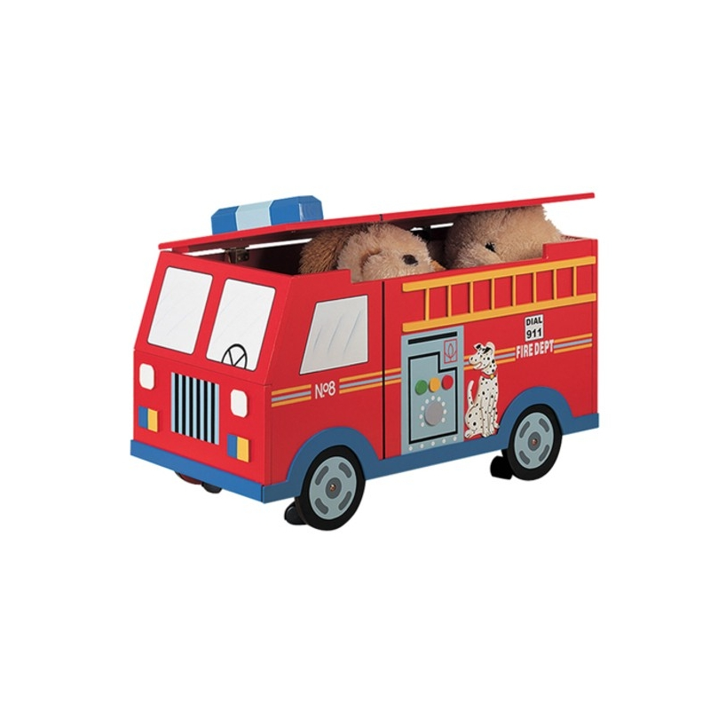 Teamson Transport Fire Engine Trunk On Wheels (W-4007A)