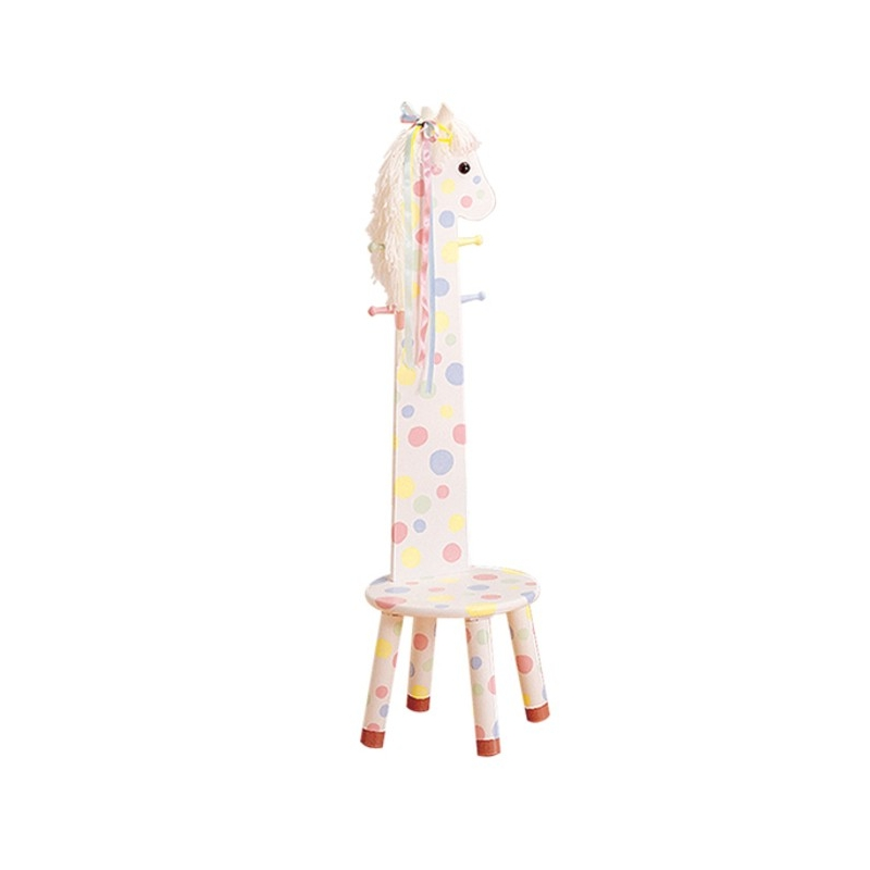 Teamson Safari H/Backed Stool W/Coat Rack-Pony (W-1945P)