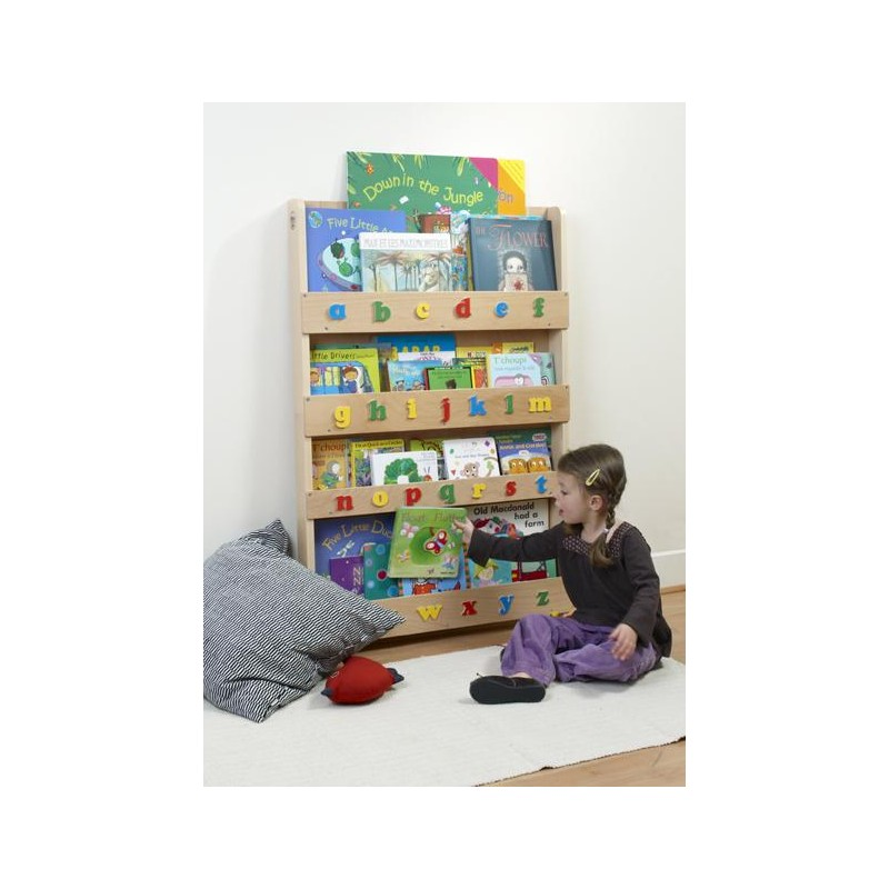 Tidy Books Bookcase With Alphabet-Clear