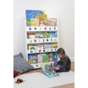 Tidy Books Bookcase With Alphabet-White
