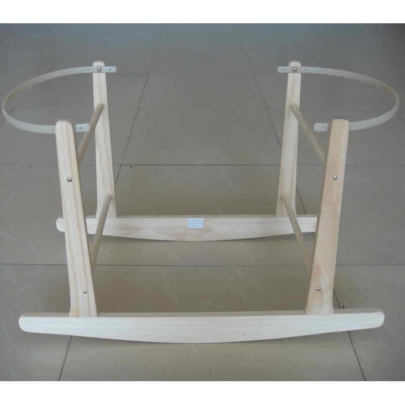 Kiddies Rocking Wooden Moses Basket Stand-Pine