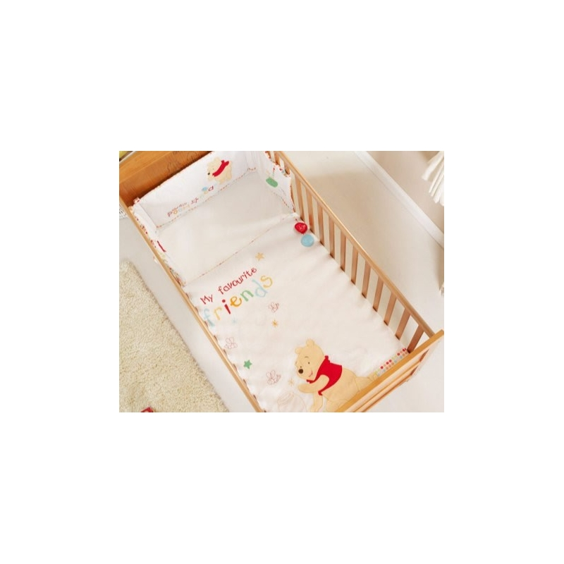 Obaby Disney Cot/Cot Bed Quilt & Bumper Set-Winnie The Pooh