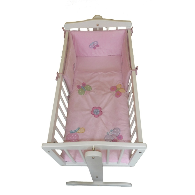 Babyco Dottie Collection 2 Pieces Crib Set for Newborn-Pink