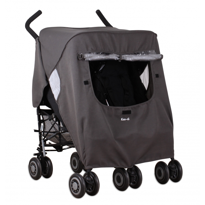Koo-di Keep Us Dry Stroller Rain Cover-Grey