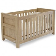 BabyStyle Bordeaux Cot Bed-Oak