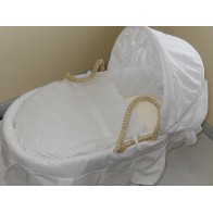 IzziWotNot White Essential Maize Moses Basket-New
