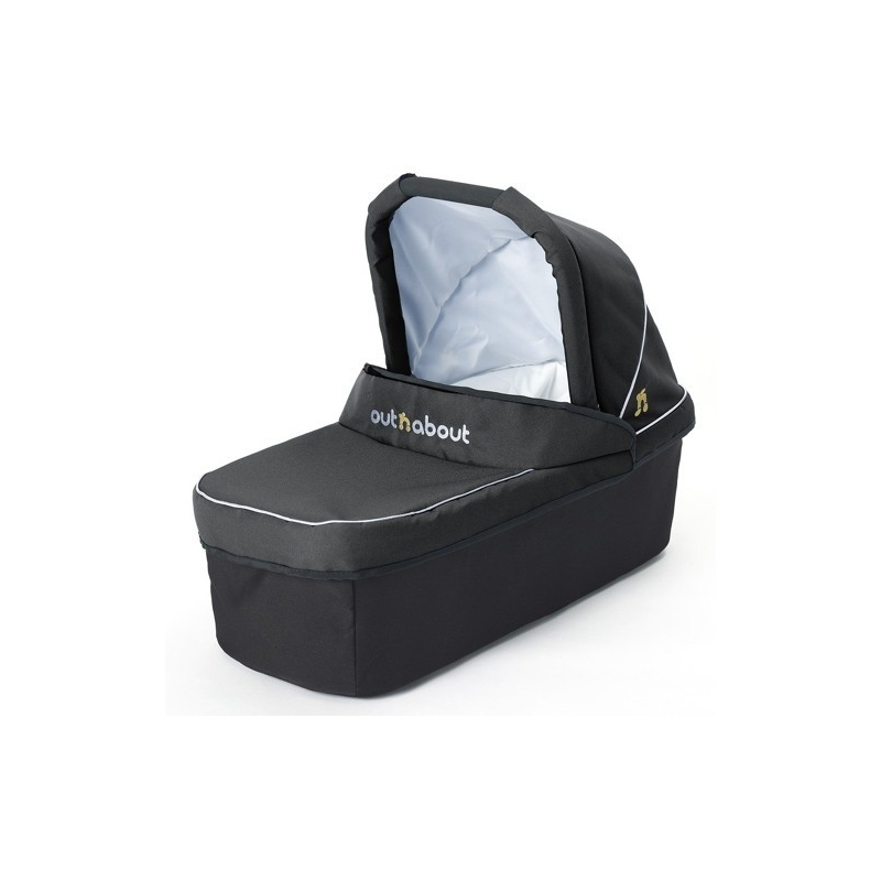 Out 'n' About V3 Double Carrycot-Black