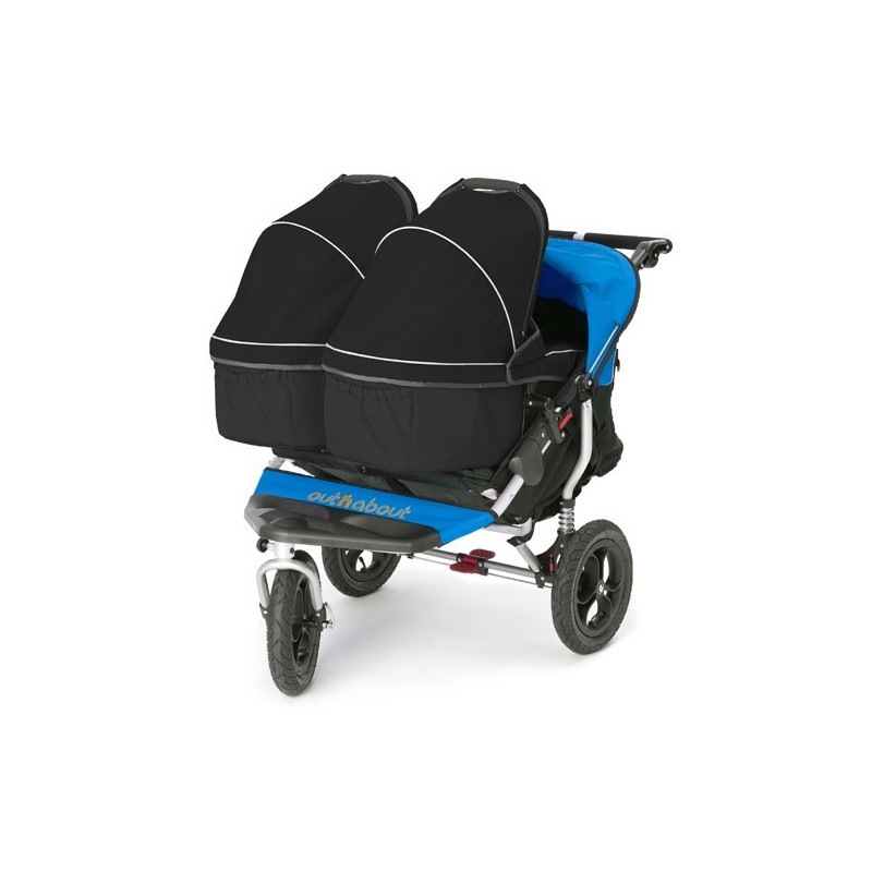 out n about nipper double carrycot adapter 2 carrycots. Black Bedroom Furniture Sets. Home Design Ideas