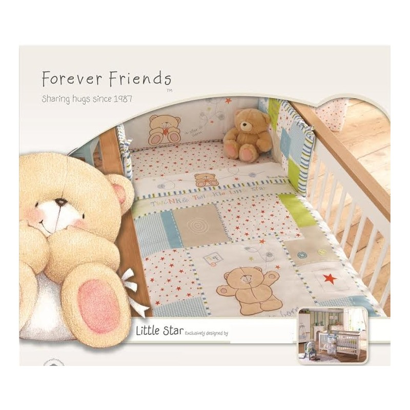 Forever Friends Little Star Cot/Cot Bed Quilt