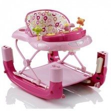 My Child Walk n Rock Baby Walker/Rocker-Pink