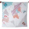 Weegoamigo Printed Muslin Wraps-World Map