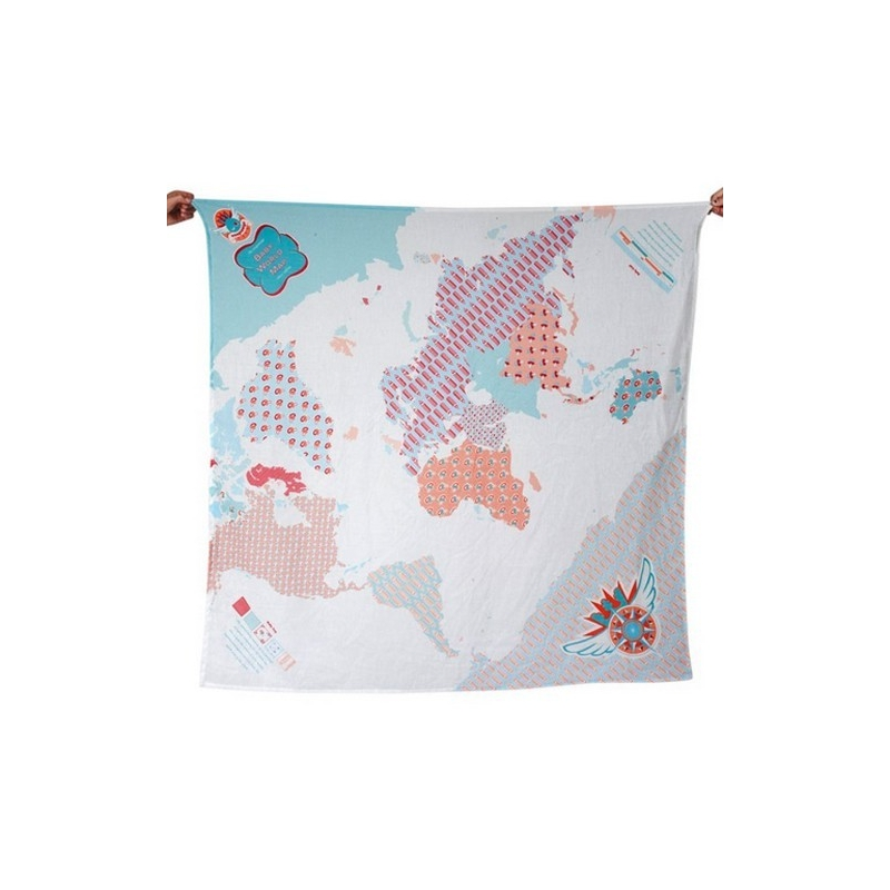 Weegoamigo Printed Muslin Wraps-World Map (2014)