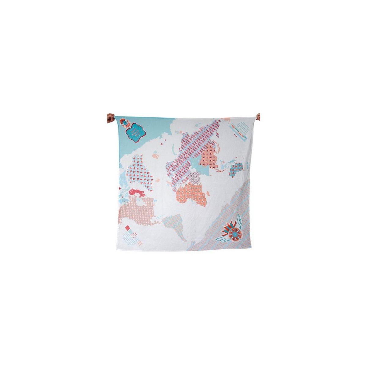 Weegoamigo Printed Muslin Wraps-World Map